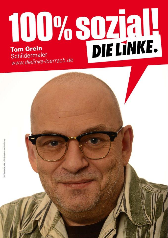 Tom Grein, Kandidat der LINKEN im Wahlkreis Lörrach - Müllheim